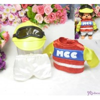 Monchhichi S Size Boutique - Horse Racing Jockey Suit Red (Helmet + Goggles) RX017-RED