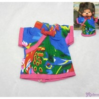 Monchhichi S Size Outfit Fashion Chinese Chi Pao Flower Dress Blue RX027