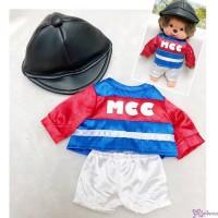Monchhichi S Size Boutique Horse Racing Jockey Suit BLUE (Helmet, Shirt, shorts) RX035-BLK
