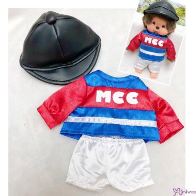 Monchhichi S Size Boutique Horse Racing Jockey Suit BLUE (Helmet, Shirt, shorts) RX035-BLK
