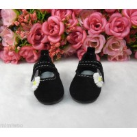 Monchhichi S Size Yo-SD 1/6 bjd Velvet Flower Mary Jane Shoes Brown SHU070BLK