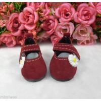Monchhichi S Size Yo-SD 1/6 bjd Velvet Flower Mary Jane Shoes Brown SHU070RED