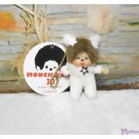 Monchhichi 7.5cm Plush Mascot Phone Strap Twinkle Mini Star WHITE TW-WHE