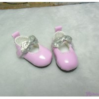 Monchhichi S Size MCC Doll Shoes Glitter Butterfly Bow Pink YK08PNK