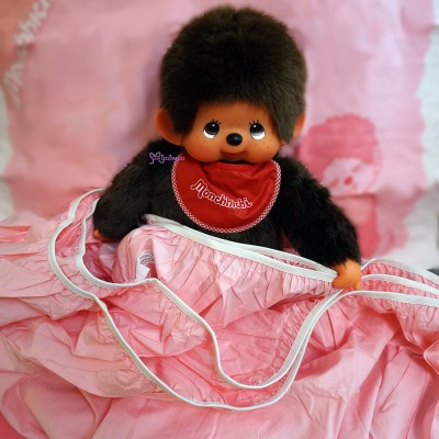 Monchhichi Bedding 100% Cotton Quilt Cover, Pillow Case and Fitted Sheet (Single) PSB001S