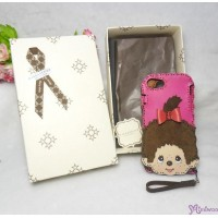 "OJAGA DESIGN x Monchhichi Iphone 7 & 8 Leather Cover Case ""Made in Japan"" ojaga1"
