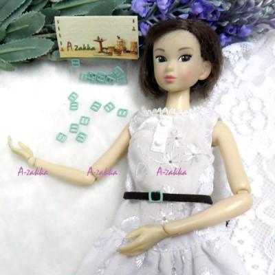 NDA021BLE Doll Dress DIY Crafts Mini Metal Buckle Blue 10pcs