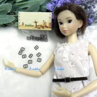 NDA021BRN Doll Dress DIY Crafts Mini Metal Buckle Brown 10pcs