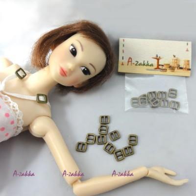 NDA021CPR Doll Dress DIY Crafts Mini Metal Buckle Copper 10pcs