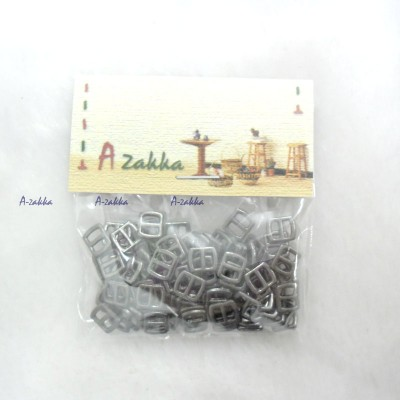 NDA021SXDGY DIY Crafts Mini Metal Buckle Dark Grey 100pcs