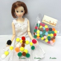 NDA027MIX Doll DIY Crafts Colorful Mini POM POM Ball 50pcs Set