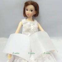 NDA029WHE Doll Dress Making DIY Material Thin Velcro Tape White