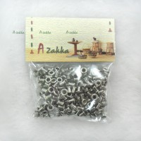 NDA035SXSLR DIY Crafts Metal Mini Eyelet 2mm Silver (300pcs)