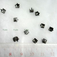 NDA043DGY DIY Dress Making Tools Mini Square Rivet 4mm Dark Grey