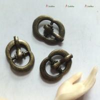 NDA044CPR DIY Crafts 11mm x 16mm Metal Buckle Copper 3pcs