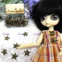 NDA060CPR Doll Dress Making Tools Mini Star Rivet 15mm Copper