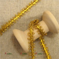 NDA069GLD DIY Crafts Centipede Shape Lace Trim 6mm Gold (2M)