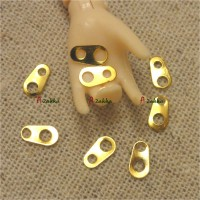 NDA072GLD DIY Material 6mm Mini Plate Metal Zipper Head Gold