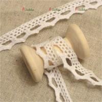 NDA081WHE DIY Crafts Torchon Lace Trim 1cm Zig-Zag Edge White
