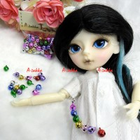 NDA084MIX Bjd Dollfie DIY Crafts 6mm Mini Bell Mix Color 50pcs
