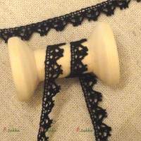 NDA098BLK Bjd Dress DIY Crafts Torchon Lace Trim 6mm Black (2M)