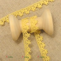 NDA098YEW Bjd Dress DIY Crafts Torchon Lace Trim 6mm Yellow (2M)