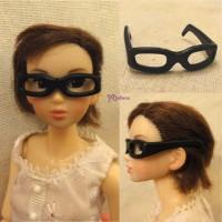 NDA108BLK 1/6 Dollfie Momoko Obitsu 23cm Head Plastic Glasses