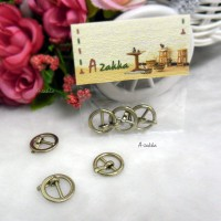 DIY Crafts 15mm Metal Round Belt Buckle Gold (3pcs) NDA109GLD