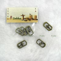 NDA110CPR 17mm x 9mm Metal Rectangle Belt Buckle Copper (3pcs)