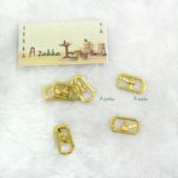 NDA110GLD 17mm x 9mm Metal Rectangle Belt Buckle Gold (3pcs)