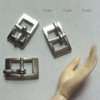 NDA114SLR 12mm x 7mm Metal Rectangle Belt Buckle Silver (3pcs)