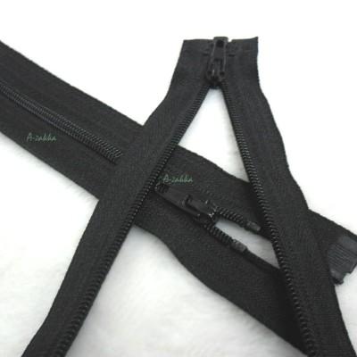 NDA126BLK DIY Crafts 15cm Nylon Open End Zipper Black 2pcs Set