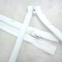 NDA126WHE DIY Crafts 15cm Nylon Open End Zipper White 2pcs Set