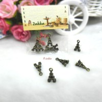 Bjd Necklace Pendant Mini Eiffel Tower Brass 5pcs NDA131CPR