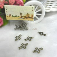 Bjd Necklace Pendant Mini Cross Antique Brass (5pcs) NDA133CPR