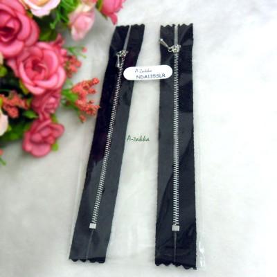 12cm Black Close End Zipper Silver Metal Handle 2pcs NDA135SLR
