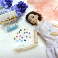 NDB001BLE Doll Dress Crafts Part Tiny Button Round 4mm S Blue