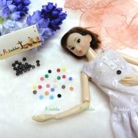 NDB001BLK Doll Dress Craft Part Tiny Button Round 4mm S Black