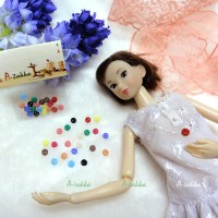 NDB001MIX Doll Dress Crafts Tiny Button Round 4mm S Mix Color