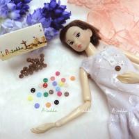 NDB002BRN Doll Dress DIY Sewing Tiny Button Circular 5mm S Brown