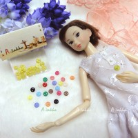 NDB002YEW Doll Dress DIY Craft Tiny Button Circular 5mm S Yellow