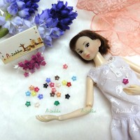 NDB005RSE Doll Dress DIY Sewing Tiny Tool Button Star 6.5mm Rose