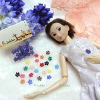 NDB008PUE Doll Dress DIY Sewing Button Flower 6.5mm Purple