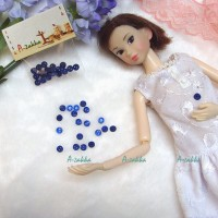 NDB009BLE Doll Dress High Quality Button Round 4mm Pearl Blue