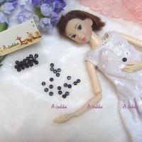 NDB009BLK DIY Craft High Quality Button Round 4mm Pearl Black