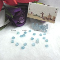 NDB009SKY Doll Dress High Quality Button Round 4mm Sky Blue