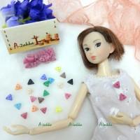 NDB010LPN Doll Dress Making Tiny Button Triangle 6.5mm Lt. Pink