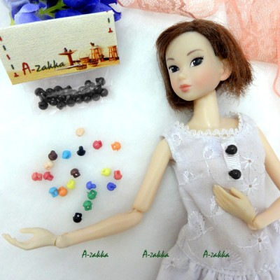 NDB013BLK Doll Dress DIY Crafts Tiny Mushroom Button 5mm Black