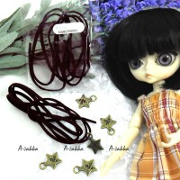 NDB015BRN Doll DIY Necklace 3mm Velvet Leather Strap Brown (1M)