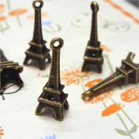 NDB020CPR Doll BJD DIY Crafts Copper Pendant Eiffel Tower 5pcs